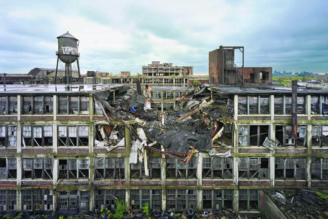Detroit's abandoned Packard Plant, 2015