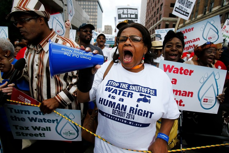 Water shutoff protests in Detroit in 2014 (Photo: WSJ)